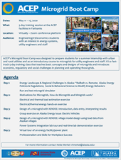 Microgrid Boot Camp 2020 Flyer